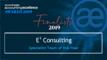 Finalist in 2019 Accounting Excellence Awards - Specialist Team of the Year