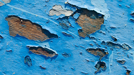Blue Peeling Paint