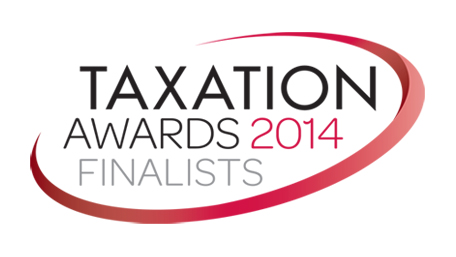 Logo for finalists of Taxation Awards 2014